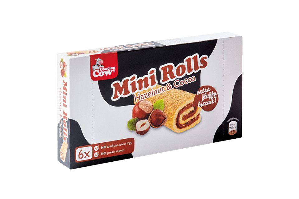 Dancing Cow Mini Roll Hazelnut Package